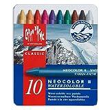 Caran D'ache Neocolor II - Juego de ceras de color (10 unidades, caja metálica)