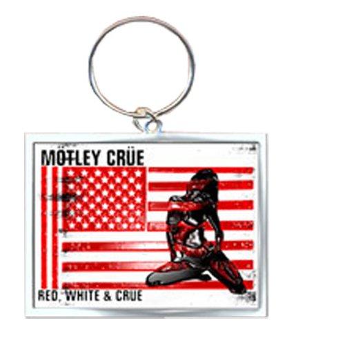 Mötley Crüe - Keyring Schlüsselanhänger - Red, White & Crue Logo (in )