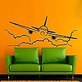chadme adhesivos Aire Avión volando a través de pared nubes Cielo Pegatinas de Pared Diseño de Interiores para el hogar salón vinilo