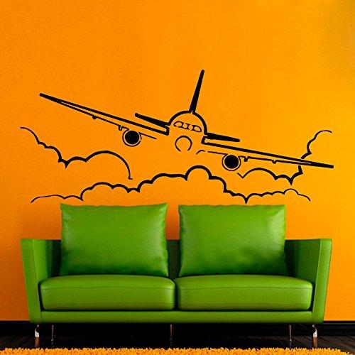 43SabrinaGill Wandaufkleber Flugzeug Flying durch Wolken Himmel Innen Design Wohnzimmer Home Vinyl Aufkleber Aufkleber Boy Kids Kinderzimmer Baby Room Decor -