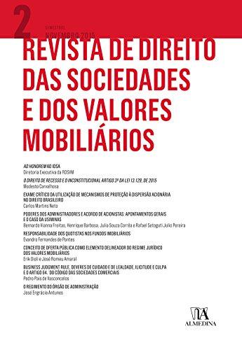 Revista de Direito das Sociedades e dos Valores Mobiliários nº2 (Portuguese Edition) por Nelson;França, Erasmo Valladão Azevedo E Novaes Eizirik