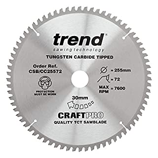 Trend Craft Pro saw blade - 255mm diameter 30mm bore 72tooth TCT