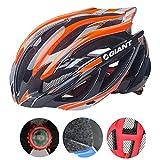 Bicicleta casco 53-62cm Xagoo con construido en luz LED (negro&naranja)