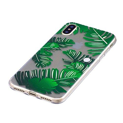 Per iPhone X Cover , YIGA gatto lisca Cristallo Trasparente Silicone Morbido TPU Case Shell Caso Protezione Custodia per Apple iPhone X (5,8 pollici) LF3