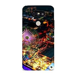 Qrioh Printed Designer Back Case Cover for LG G5 - Amusement Park Yokohama Japan Night