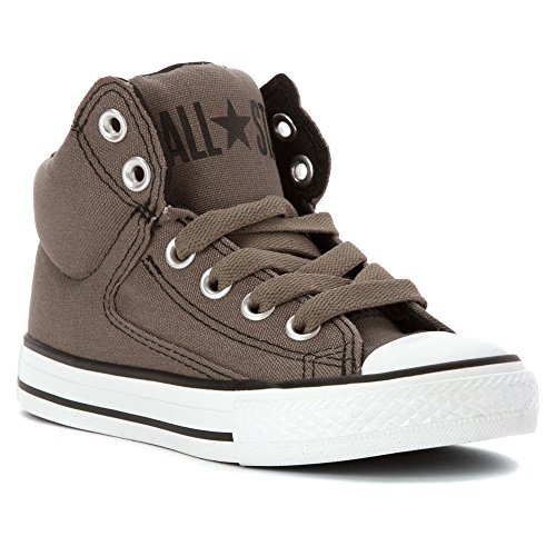 Converse Kids Chuck Taylor All Star High Street Hi Fashion Sneaker Shoe, Charcoal, 11 Charcoal