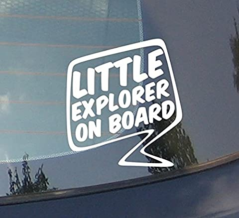 Little Explorer On Board - Discover, Trip, Bumper, Vinyl, Pine Tree, travel, Mountains, Laptop, Car Sticker decor Home Live Kids funny wall art decal stickers