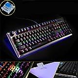 87104teclas retroiluminado teclado mecánico Mixed juegos teclado con retroiluminación 6