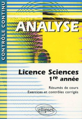Analyse : Licence Sciences 1ere année