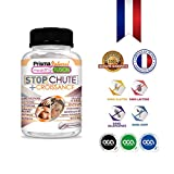 STOP CHUTE + CROISSANCE - Avec Méthionine, Cystéine, Levure de Bière et Vitamines - Stimule et renforce la pousse des cheveux - Freine la chute et augmente sa résistance y densité - 30 capsules