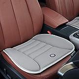 Rstant Rutschfeste Autositzkissen, wasserdicht, weich, 4 Jahreszeiten, Memory-Schaum, Sitzkissen für Auto, Zuhause, Büro grau