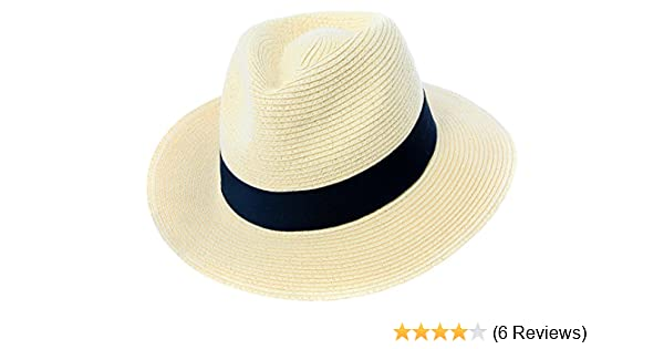 f049234db Mens or Womens Straw Fedora Hat Crushable Wide Brim Panama Hat Trilby  Summer Cap