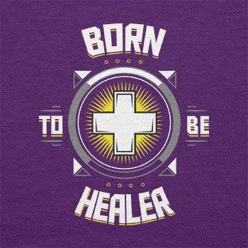 TEXLAB - Born to be Healer - Herren T-Shirt Violett