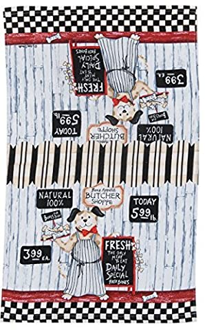Kay Dee Designs R3190 Butcher Shoppe Dogs Terry Towel by Kay Dee