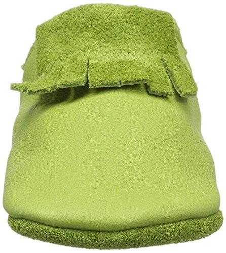 Pololo Unisex-Kinder Mokassin Biokreis Krabbelschuhe Grün (Grün)