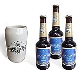 Arschlecken- Set Bierkrug Arschlecken 350& 3 Biere Arschlecken 350-0,33l, 5,2% vol Alc