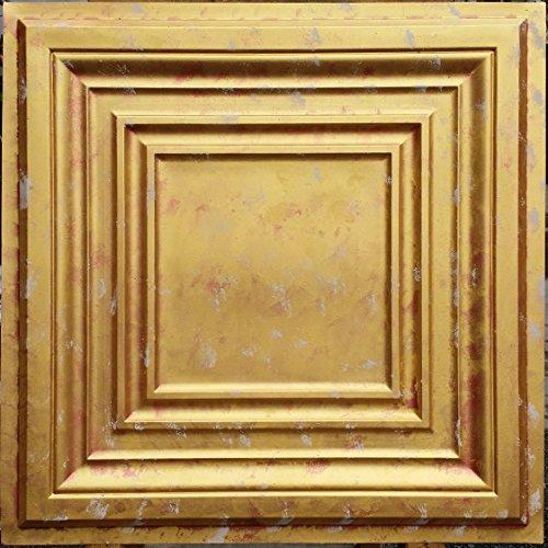 PL05Faux Paint Not Gold Deckenleuchte Fliesen geprägt photosgraphie Hintergrund Dekoration Wand Paneele 10PIECES/lot