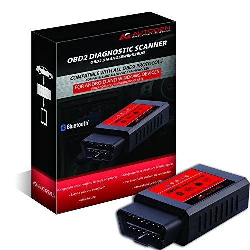 Preisvergleich Produktbild AUTOGEN Bluetooth OBD2 ELM327 Auto Diagnosegerät EOBD OBDII, Can Bus OBD 2 Adapter für PKWs KFZs