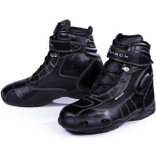 BLACK FC-Tech - Motorrad-Stiefel kurz - Schuhe - knöchelhoch - Schwarz - EU45
