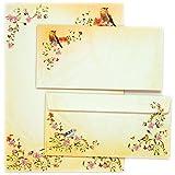 TATMOTIVE 05-0117-0090-00010 TOSKANA Briefbogen Set-Blumen Design A4 297 x 210