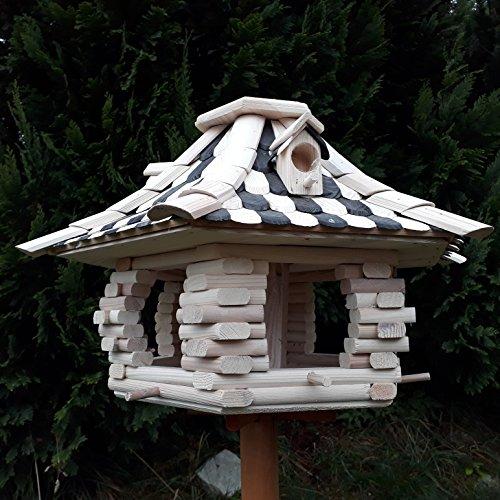 Großes Vogelhaus Futterhaus Vogelhäuschen –Wetterschutz– OK22 - 3