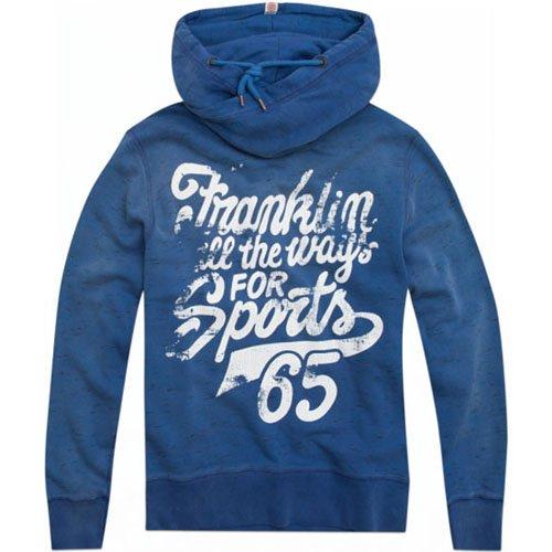 FRANKLIN AND MARSHALL Felpa uomo tokio blue vintage Franklin marshall S