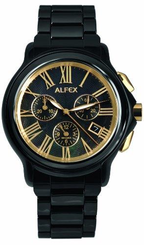 Alfex Reloj de cuarzo 5629_796 Negro 43 mm
