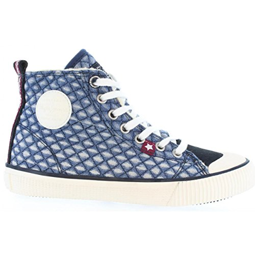 Pepe Jeans Industry Denim Girl, Baskets mode fille