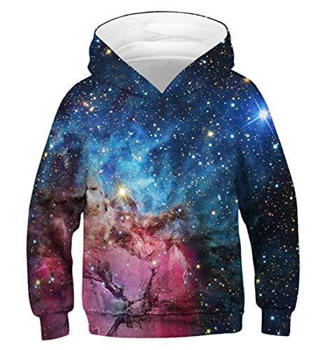 Idgreatim Kinder Pullover Hoodies 3D Gedruckt Mit Kapuze Pullover Hoody Sweatshirts Pullover Tops Mit Tasche S Familie Familie Kinder Sweatshirt