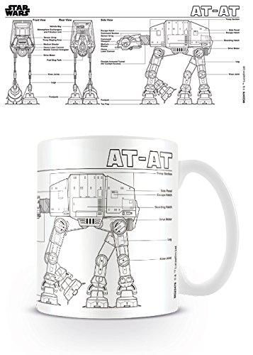 "Star Wars ""at-at Sketch 11oz/315ml Kaffeetassen"