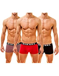 "Diesel ""3 Pack Shawn THE SEASONAL Boxer"", 1 x rouge, 1 x noir, 1 x blanc"