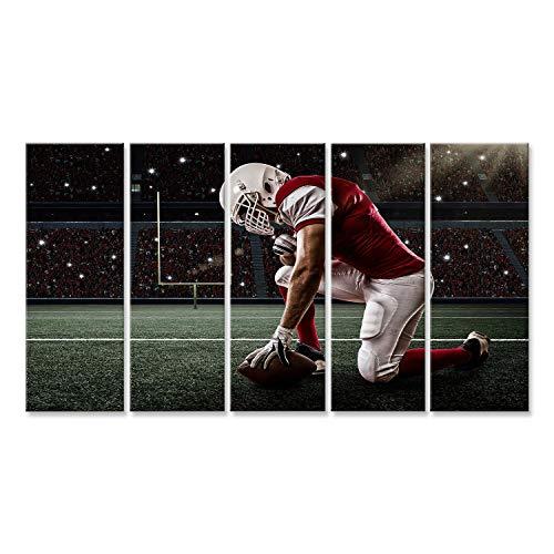 islandburner Bild Bilder auf Leinwand American Football Spieler im Stadion Poster, Leinwandbild, Wandbilder - American Leinwand