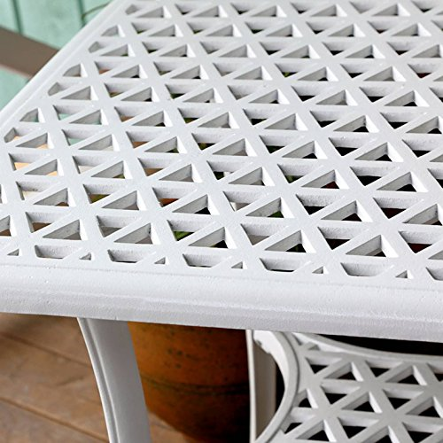 Lazy Susan Furniture - Claire Metal Coffee Side table White
