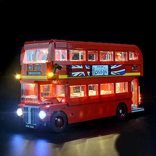 LED-Beleuchtungskit für Lego London Bus 10258 (Lego-Set nicht enthalten)