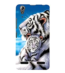Fuson Premium Printed Hard Plastic Back Case Cover for Lenovo A6000 Plus