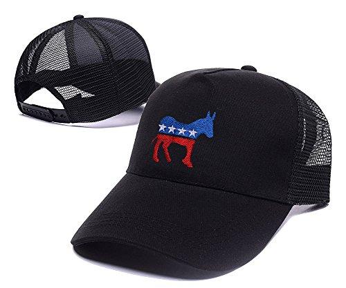 sianda-democrat-donkey-logo-baseball-snapback-cappello-mesh