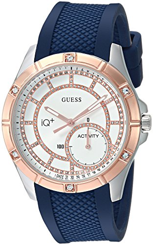 Guess Women's Stainless Steel Connect Fitness Tracker Silicone Watch, Color Navy Blue (Model: C2002L2)
