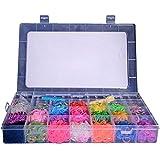 Coffret Kit de Luxe -Métier à Tisser + 5000 Elastiques + 1 Gros Crochet + Clips S + Pendentifs - 100% compatible Rainbow Loom, Cra-Z-Loom et autres kits loom.