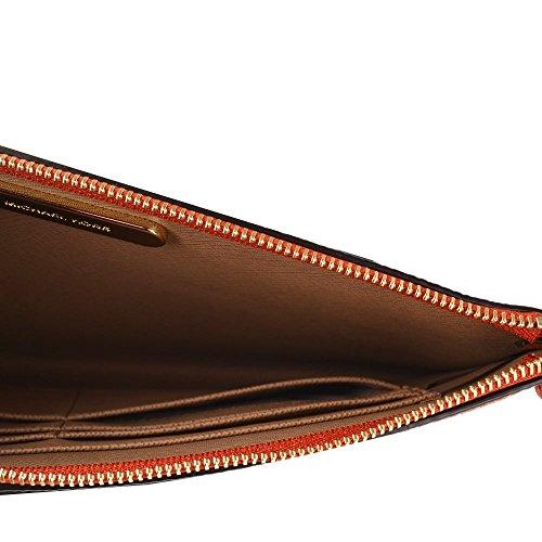 MICHAEL by Michael Kors Mercer Orange Large Zip Pochette Orange
