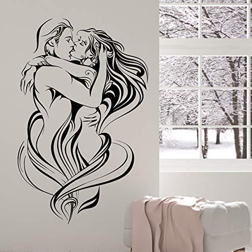 Hwhz 60 X 83 Cm Attraktive Klassische Vinyl Wall Decal Liebe Sexy Nackte Frau Mann Leidenschaft Aufkleber