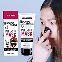 1 PC : VOLLUCK 60ml Blackhead Removal Black Mask + FREE Brush, Deeply Cleanser Blackheads Remover Face Mask Promoting Skin Texture for Tightening Friming (1 PC)
