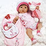 Real Life Love Dolls Best Deals - Paradise Galleries Lifelike Realistic Looking Baby Doll, Tall Dreams Toy Gift Set, 48cm Soft Body Weighted Girls Baby, for Ages 3+ - Great to Reborn