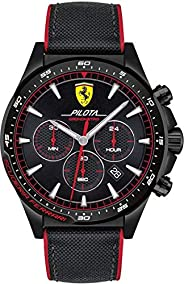 Ferrari Unisex-Adult Quartz Watch, Analog Display and Nylon Strap 830623
