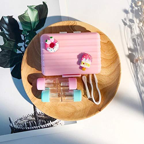 2 Satz Von Cute Unique Case Kit Für Kontaktlinsen Gepäckform Reise Schutzbox Mit Spiegel Pinzette Stick Für Weiche Harte Rgp-Linse - Rgp-linsen