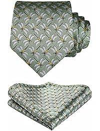 Hisdern Animal Patterns Wedding Party Tie Panuelo Corbata de los hombres y el juego de bolsillo cuadrado