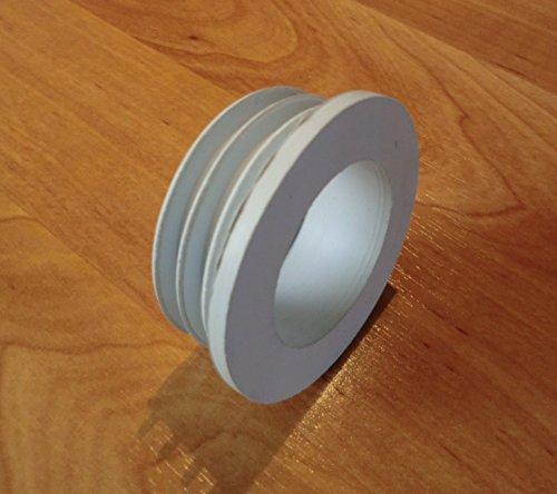 Euromanschette WC Spülrohr - Verbinder, Gummi - Dichtung DN 44 mm NEU (Spülkasten Dichtung)