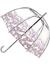 Fulton Birdcage-1 clairement parapluie en forme de dôme avec fleuron frontière - Nouveau!