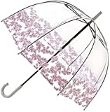 Fulton Birdcage-1 ombrello cupola trasparente con bordo fiorellino - Nuovo!