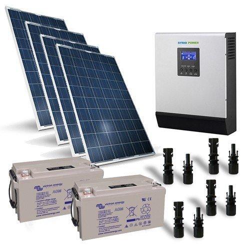 Photovoltaik Kit 1KW 24V Pro Solarmodul Laderegler Wechselrichter Batterie 90Ah