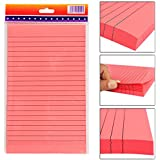 PIGLOO Self-Stick Sticky Note Pad, Ruled, 8.5 x 5 inch, 100 Sheets, Peach